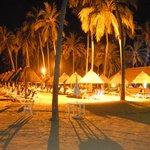 Área noturna da praia