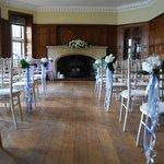 The Oak Room set up for Wedding
