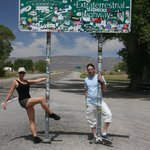 Pole dancing at the Extraterrestrial Highway :)