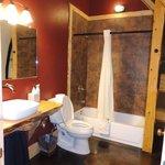 Wolf's Den spacious bathroom
