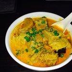 Brisket beef noodle curry soup