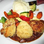 Artichoke Crusted Beef Medallions