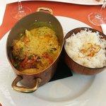 plat : poulet curry coco