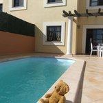 pool and rear of villa