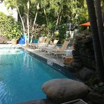 Pool area - Always Chairs available during our stay