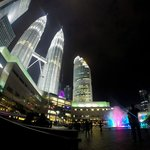View of the Petronas Towers from Ground Level