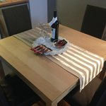 Convenient dining table with Wine