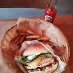 a 100% fresh gourmet  burger