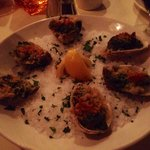 Small oysters Rockefeller
