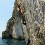Deep Water Soloing, Ciovo location, Mindja 7c