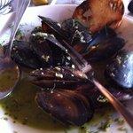 Mussels in garlic butter.