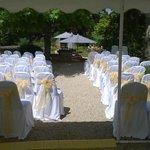 Terrace wedding set up