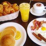 American breakfast & pancakes