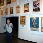 An archivist spoke about a special exhibit of posters.