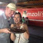 Irish journalists at Mzoli's