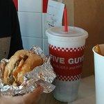 hamburger do Five guys