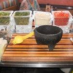 Mise en place para elaborar Guacamole.
