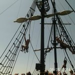 Pirates swinging from the masts (no harasses!)