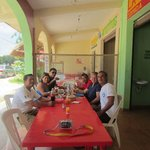 Having a great lunch with our new friends and tour guide Nelson and driver Jorge.