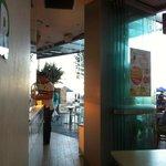 just around MOS Burger restaurant