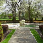 Meadow Brook Hall garden fountain