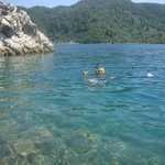 Snorkelling in the bay