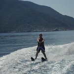 Water skiing in the bay