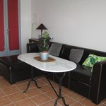 Living space and dining table