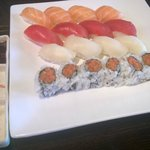 Our Sushi choices from lunch buffet