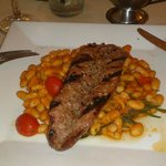app wild boar sausage with beans is very big even for a main dish