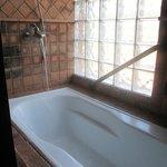 una bañera muy comoda