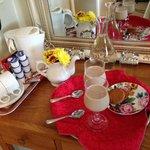Susan's treats and room amenities