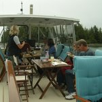 Lunch on board of the Raincoast Maiden