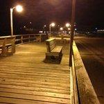 Fishing pier at night