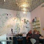Inside the Royal Smushi Cafe