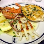 Transatlantico restaurant - mixed grilled fish dinner