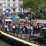 Fila em Battery Park para a Estátua da Liberdade