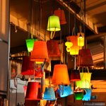 I love the recycling idea on several of their lighting materials, creative and romantic