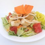 Grilled chicken salad with fresh local ingredients
