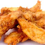 Crispy Chicken Tenders, fresh never frozen and made to order.