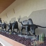 Outside North Dakota Cowboy Hall of Fame - Medora, ND
