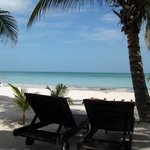 the beautiful beach and ocean in front of Holbox Dream
