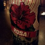 "A hibiscus rose colored beer. Our server said it was ""very drinkable"", and it was."