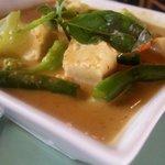 Vegetarian tofu yellow curry