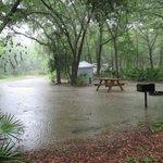 campsite under water