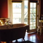 Beautiful clawfoot tub in the Montrachet Suite