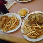 chicken tenders and ..My FAV...Patty Melt...YUM
