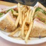 Turkey Club.. huge Sandwich....Very Good !!