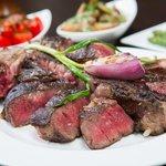 Bistecca alla Fiorentina - our signature 1.1kg t-bone sharing steak (F1 Wagyu MBS 6+)
