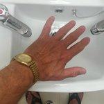 Wortwörtlich, nur ein Handwaschbecken